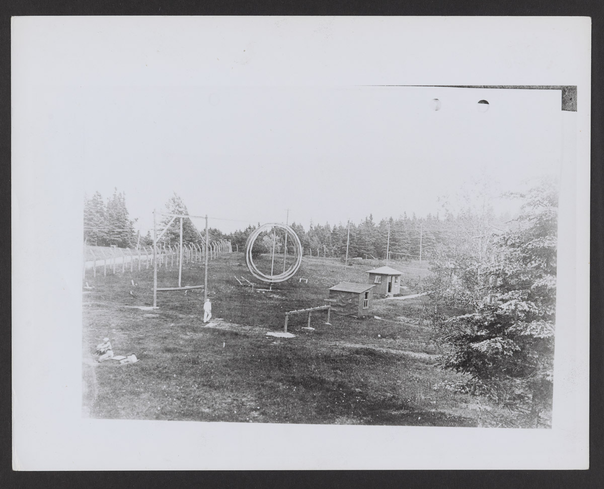 Otter Cliffs Radio Station Grounds with Circular Structure Print